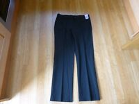 Girls Marks & Spencer School black trousers age 14-15 brand new with labels hips 92-96cm