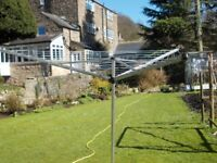 BRABANTIA ROTARY DRIER; IN VERY GOOD CONDITION. MATLOCK OR NOTTINGHAM