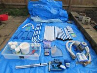 10ft pool plus extras , ladder , pump/filter , chemicals.