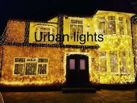 Wedding lights, wedding lighting, wedding lights hire, outside house lights, Indian wedding lights