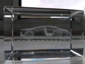 Audi R8 crystal paper weight