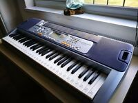 Casio LK-110AD Keyboard Silver and Black - fully working condition
