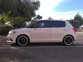 Borbet CW deep dish alloy wheels 5x100 Skoda Fabia, Vw Golf Toyota with tyres