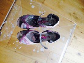 Girls sparkle club shoes chiildrens size 13