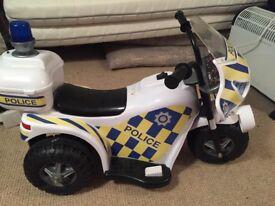 Motorised Police Bike for kids