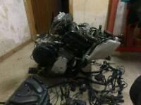 Yamaha r1 98-99 4xv complete engine + harness