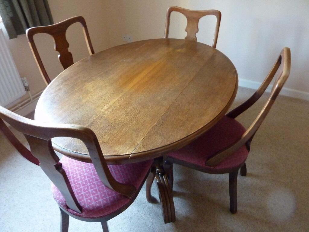 Antique Dining Table and 4 Chairs in Cambridge Cambridgeshire