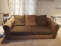 Two Matching Brown Sofas **REDUCED**