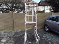 Alloy Tower with platform and wheels