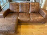 L shape sofa.