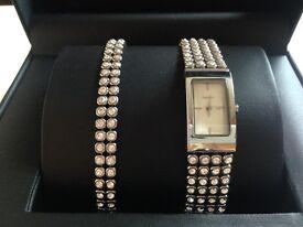 DKNY watch and bracelet set
