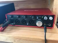 Focusrite Scarlett 18i8 2nd Generation Audio / Midi interface - as new, boxed