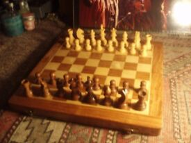 Quality Chess(wooden pieces and board.