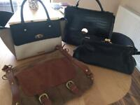 Handbags in good condition. 4 in total. 2 are genuine leather