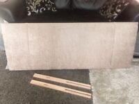 Brand new Mink double bed headboard .