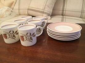 Wedgwood Coffee cups and saucers (6)