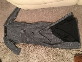 Lady silver wrap over dress