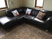 Brown leather corner sofa (Sterling furniture brand) - only £175 for quick sale!