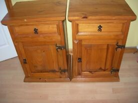 Pair of solid pine bedside cabinets £40 each or £75 for the pair