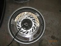 pan european st1100 front wheel with both brakes discs