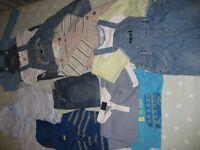 Baby boy 6-12 months clothes bundle excellent condition - 25 items - GAP, Next, M&S etc