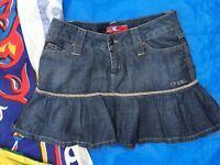 Oneill denim mini skirt - excellent condition and never worn- size 8 to 10