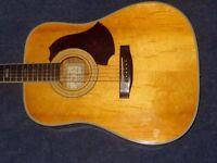 1975 eko eldorado top of the range select woods acoustic guitar swap trade hand made italy