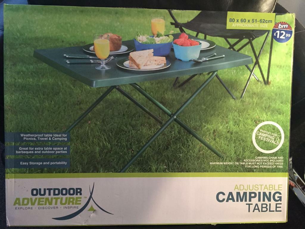 Foldable table brand new boxed