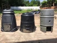 Compost Bins x3