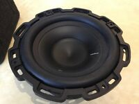"Rockford fosgate 8"" subwoofer and a sealed box"