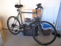Marin 21 gears, light weight aluminium frame and wheels, F & B lights, gel seat etc