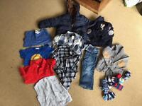 Bundle of boys clothes 12-18 months exc condition