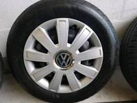 Vw wheels and tyres set of 4