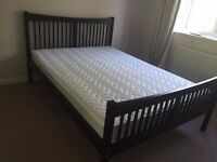 Double bed and sprung mattress