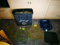 Job lot of carp keep net's & landing net's