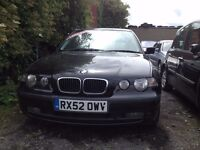 52 BMW 320TD SE COMPACT 3 DOOR ** WAS £2295 NOW £1795 ** EXECUTIVE DIESEL