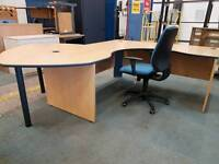 Large executive office desk with chair