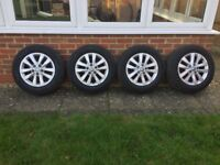 "VW T5 T6 CLAYTON ALLOY WHEELS, 16"" WITH TYRES"