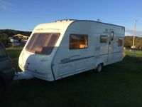 Sterling Eccles Caravan 4 Berth L Shaped Lounge Fixed Bed