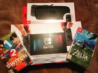 Nintendo Switch with 2 games all boxed like new