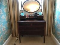Edwardian bedroom suite. Wardrobe/double bed/dressing table. Lovely!!!