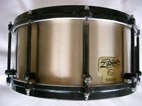 "Zildjian by Noble & Cooley cast cymbal bronze snare drum - 14 x 6 1/2"" - Original model - '98"