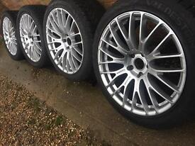 """New 20"""" staggered alloy wheels +new Vredestein winter 275/40/20 tyres VW T5 T6 BMW X5"""