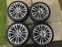 BMW 19 INCH GENUINE 403 M STYLE ALLOY WHEELS WITH TPMS SENSORS - SUIT F30 / E90 3 OR 4 SERIES