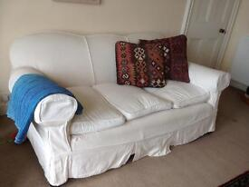3 seater sofa with removable cotton covers.