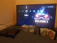 Bush 49 inch Full HD Freeview LED TV with ps3 and games see pics