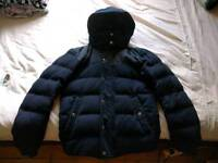Uniqlo winter feather jacket XS blue navy