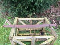 Vintage woodsman's saw - antique lumberjack