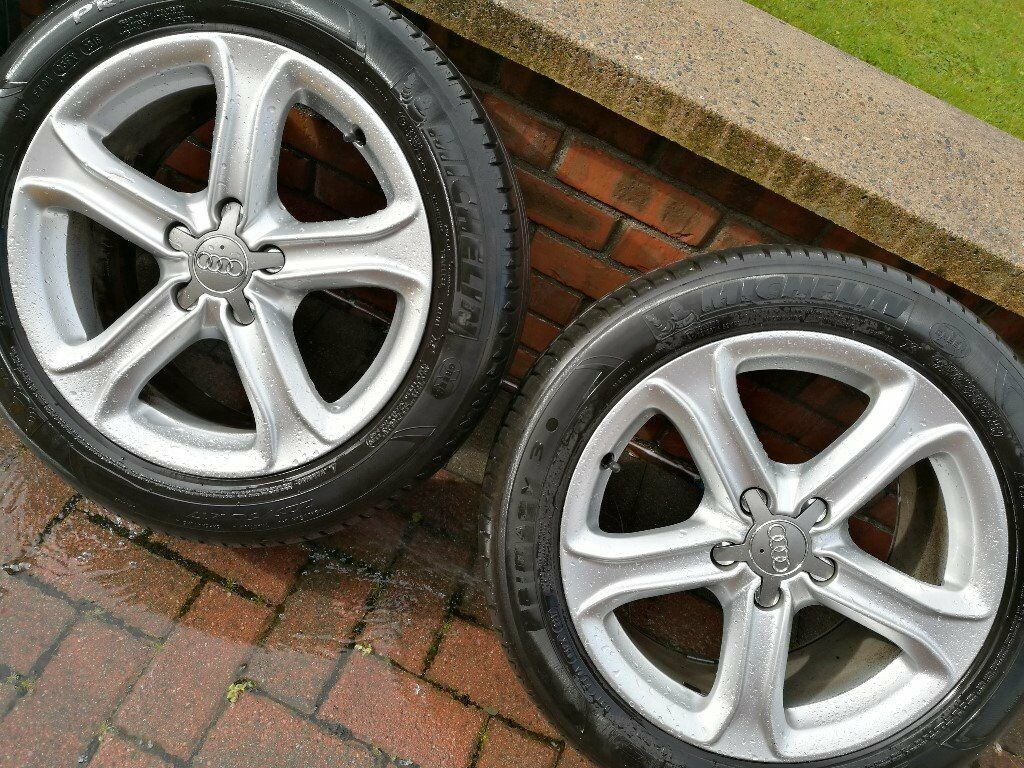 Audi A4 A6 OEM 17 inch wheels with 225/50R17 tyres to fit VW Seat Skoda 5x112 in Magherafelt £195