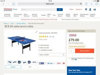 BRAND NEW STILL BOXED TABLE TENNIS TABLE